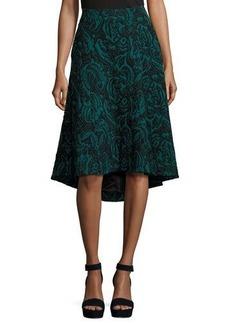 Catherine Malandrino Velvet Jacquard High-Low Skirt