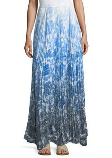 Catherine Malandrino Vera Pleated-Chiffon Maxi Skirt