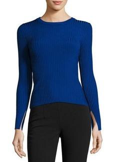 Catherine Malandrino Wide-Ribbed Pullover Sweater
