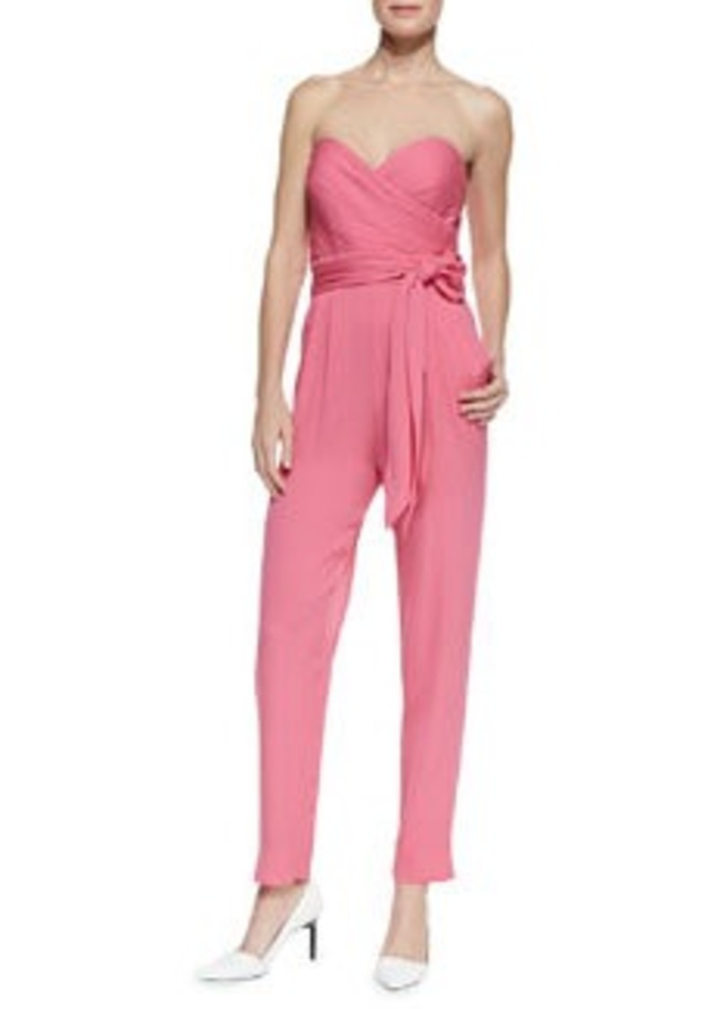 Catherine Malandrino Favorites Strapless Silk Jumpsuit   Favorites Strapless Silk Jumpsuit