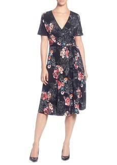 Catherine Malandrino Floral Short-Sleeve Wrap Dress