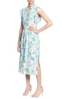 Catherine Malandrino Fredda Floral Midi Dress