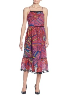 Catherine Malandrino Gillie Printed Midi Dress