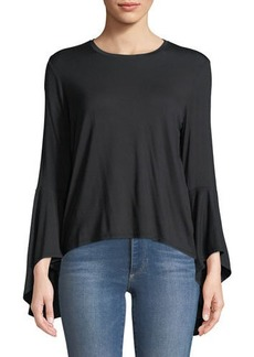 Catherine Malandrino High-Low Bell-Sleeve Tee