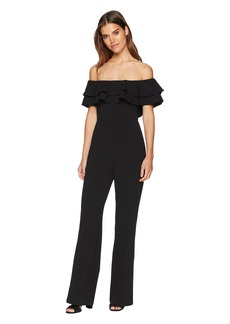 Catherine Malandrino Lelio Ruffle Top Off the Shoulder Jumpsuit
