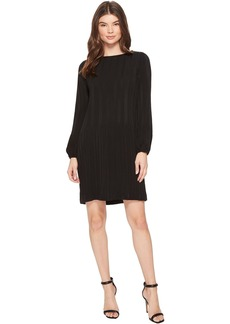 Long Sleeve Pleated A-Line Dress