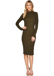 Catherine Malandrino Long Sleeve Ribbed Knit Bodycon Dress