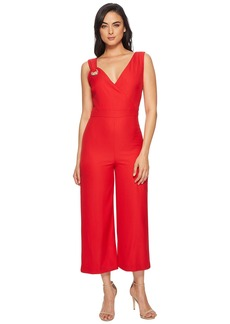 Catherine Malandrino Luna V-Neck Straight Leg Sleeveless Jumpsuit with Grommet Detail
