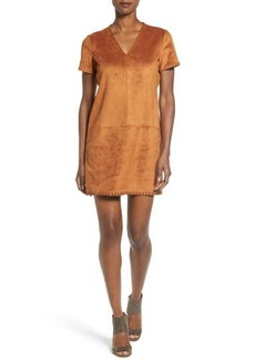 Catherine Malandrino Marcella Faux Suede Shift Dress