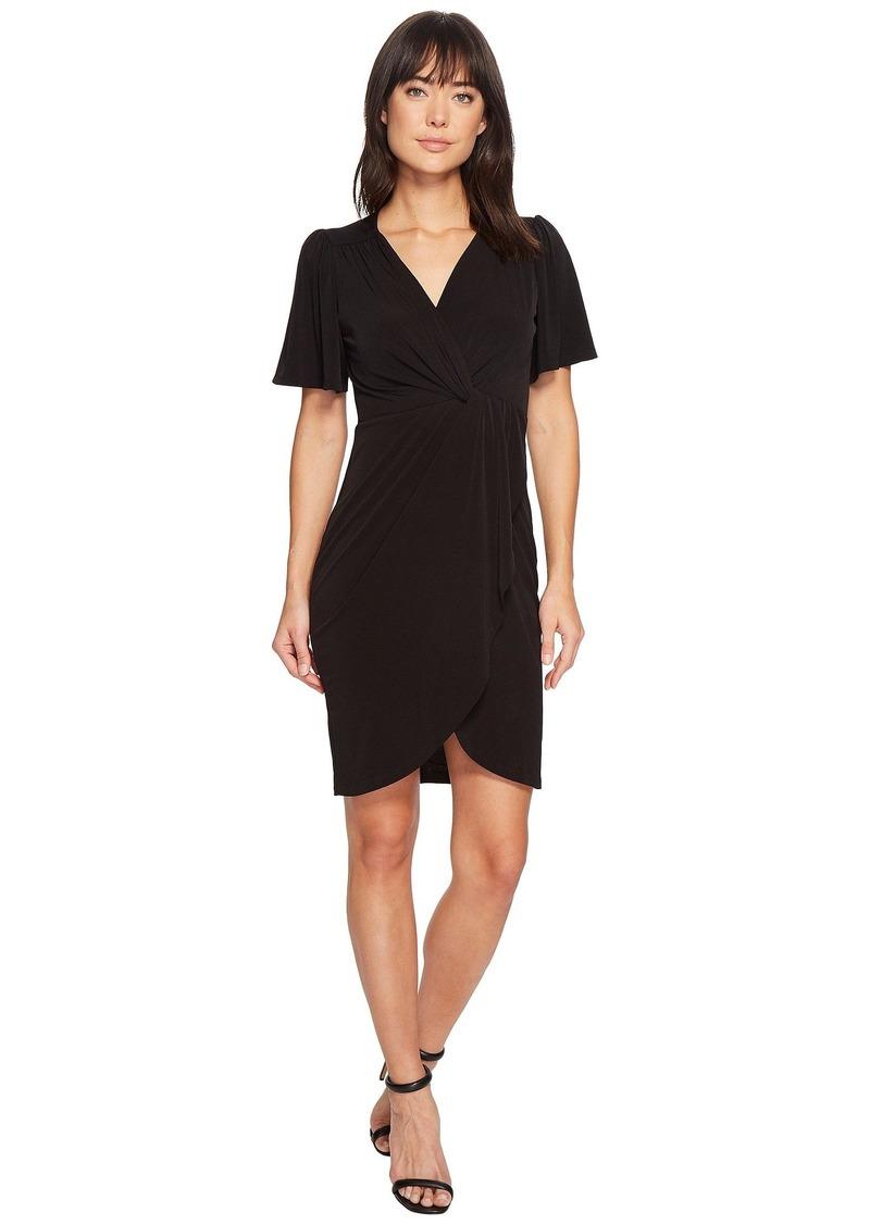247717572 Catherine Malandrino Nyla V-Neck Short Sleeve Twist Front Midi Dress ...