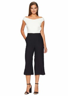 Catherine Malandrino Off the Shoulder Cropped Jumpsuit