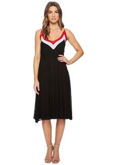 Catherine Malandrino Olympe V-Neck Color Block Pleated Dress