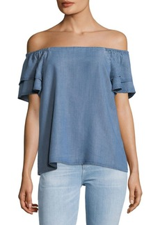 Rochelle Chambray Top