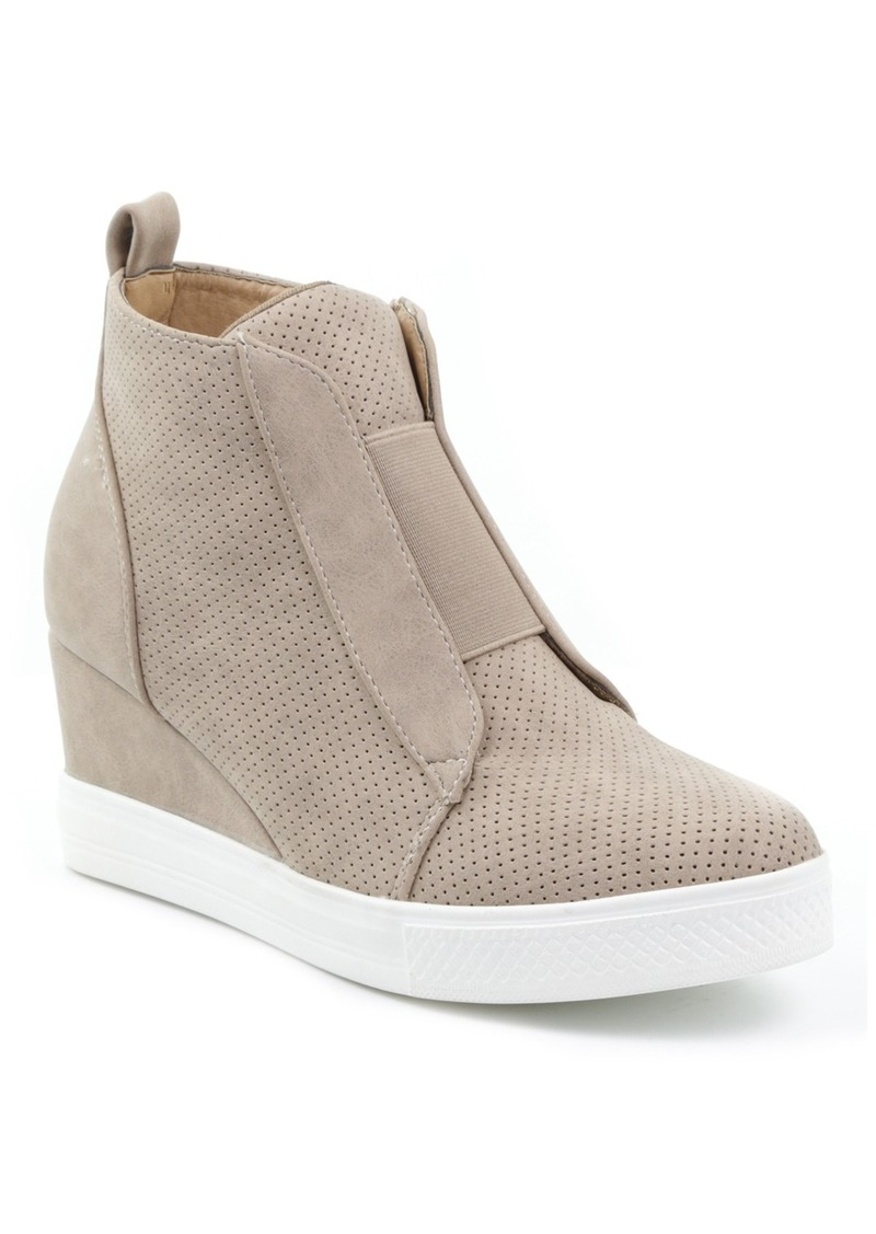Catherine Malandrino Sabra Perforated Wedge Sneaker
