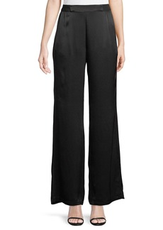 Catherine Malandrino Satin Wide-Leg Pants