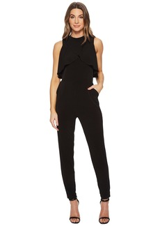 Sen Halter Neck Jumpsuit w/ Draped Overlay