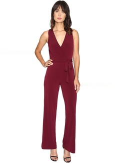 Catherine Malandrino Sleeveless Jumpsuit w/ Self Belt