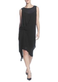 Catherine Malandrino Sleeveless Knotted Shift Dress