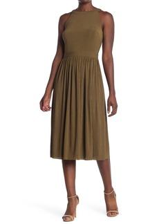 Catherine Malandrino Sleeveless Pleated Midi Dress