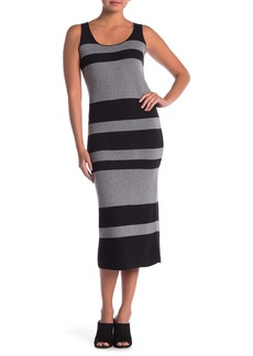 Catherine Malandrino Sleeveless Scoop Neck Stripe Sweater Dress