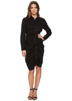 Catherine Malandrino Sloan Shirtdress with Twisted Wrap Skirt