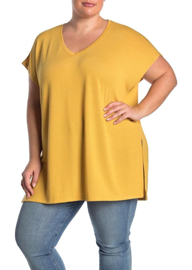 Catherine Malandrino Slouchy V-Neck T-Shirt (Plus Size)