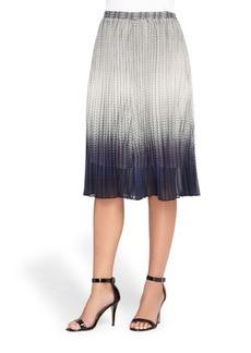 Catherine Malandrino Sylvia Ombre Plisse Skirt