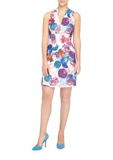 Catherine Malandrino Tinka Graphic Floral Sheath Dress