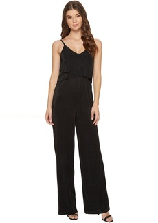 Catherine Malandrino V-Neck Layered Wide Leg Jumpsuit