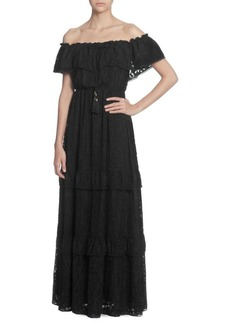 Catherine Malandrino Virginie Lace Off-The-Shoulder Maxi Dress