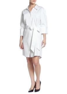 Catherine Malandrino Wide-Shoulder Shirtdress
