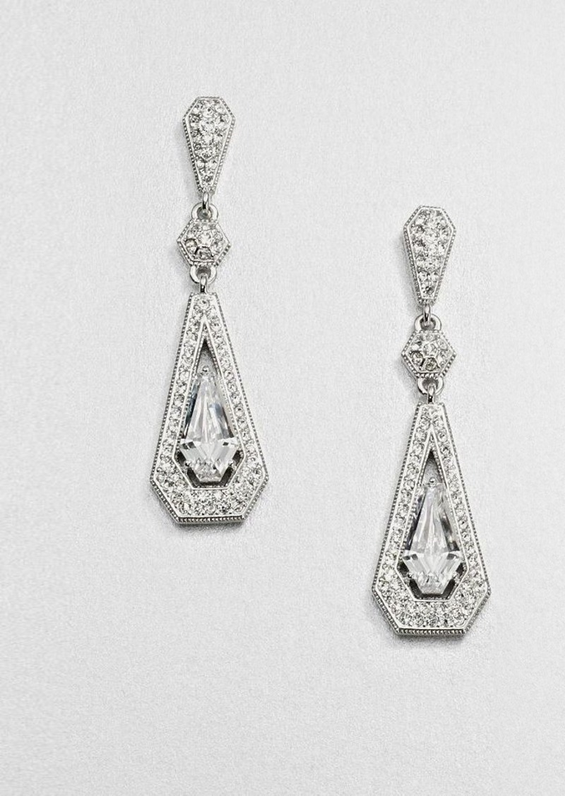 Adriana Orsini Pave Framed Drop Earrings