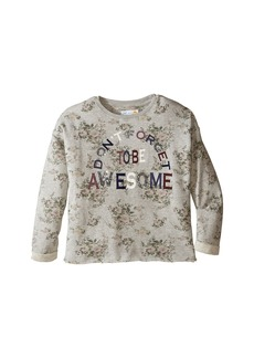 C&C California Printed Fleece Cropped Pullover (Little Kids/Big Kids)