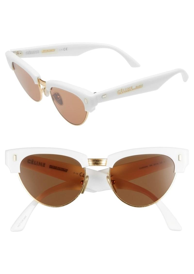 Celine 51mm Modified Cat Eye Sunglasses