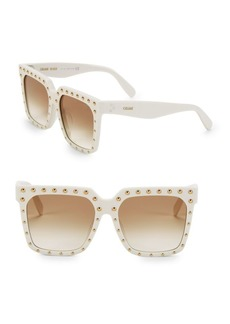 Celine 55MM Studded Square Sunglasses