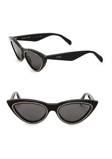 Celine 56MM Crystal-Studded Cateye Sunglasses