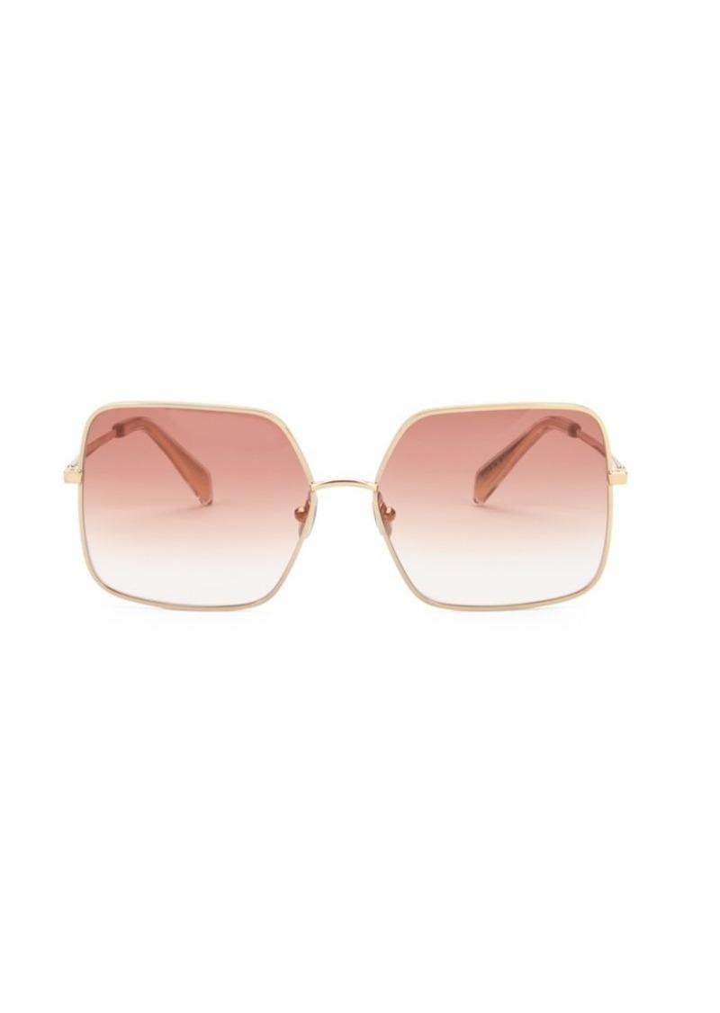 0e5b77933796 Celine 60MM Goldtone Logo Square Sunglasses   Sunglasses