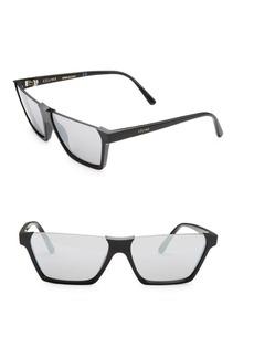 Celine 60MM Semi-Rimless Rectangular Sunglasses