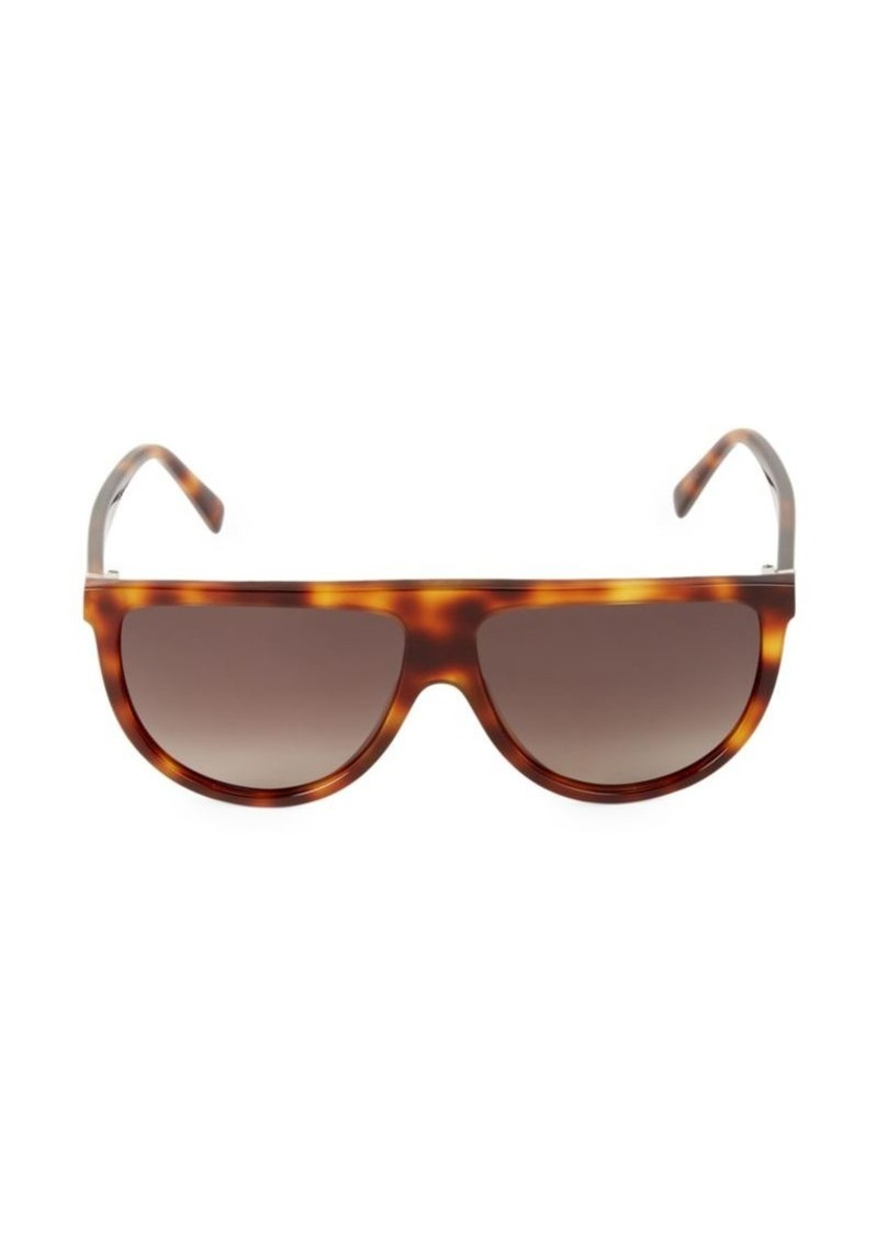 Celine 62MM Flat-Top Round Shield Sunglasses