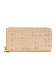 Celine C Charm Large Zipped Wallet in Quilted Calfskin