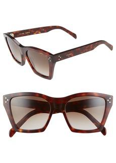 CELINE 55mm Cat Eye Sunglasses