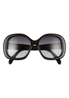 CELINE 55mm Gradient Round Sunglasses