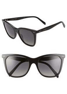 CELINE 55mm Polarized Cat Eye Sunglasses
