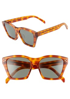 CELINE Adjusted Fit 56mm Cat Eye Sunglasses