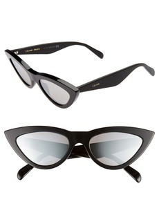 CELINE 56mm Mirrored Cat Eye Sunglasses