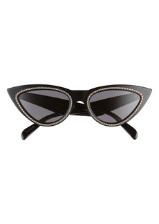 CELINE 56mm Studded Cateye Sunglasses