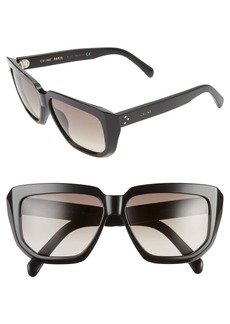 CELINE 58mm Square Sunglasses
