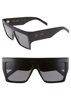CELINE 60mm Flat Top Sunglasses