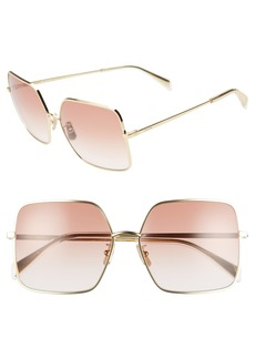 CELINE 60mm Gradient Square Sunglasses