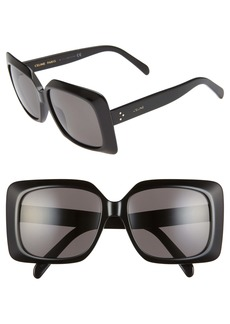 CELINE 60mm International Fit Square Sunglasses